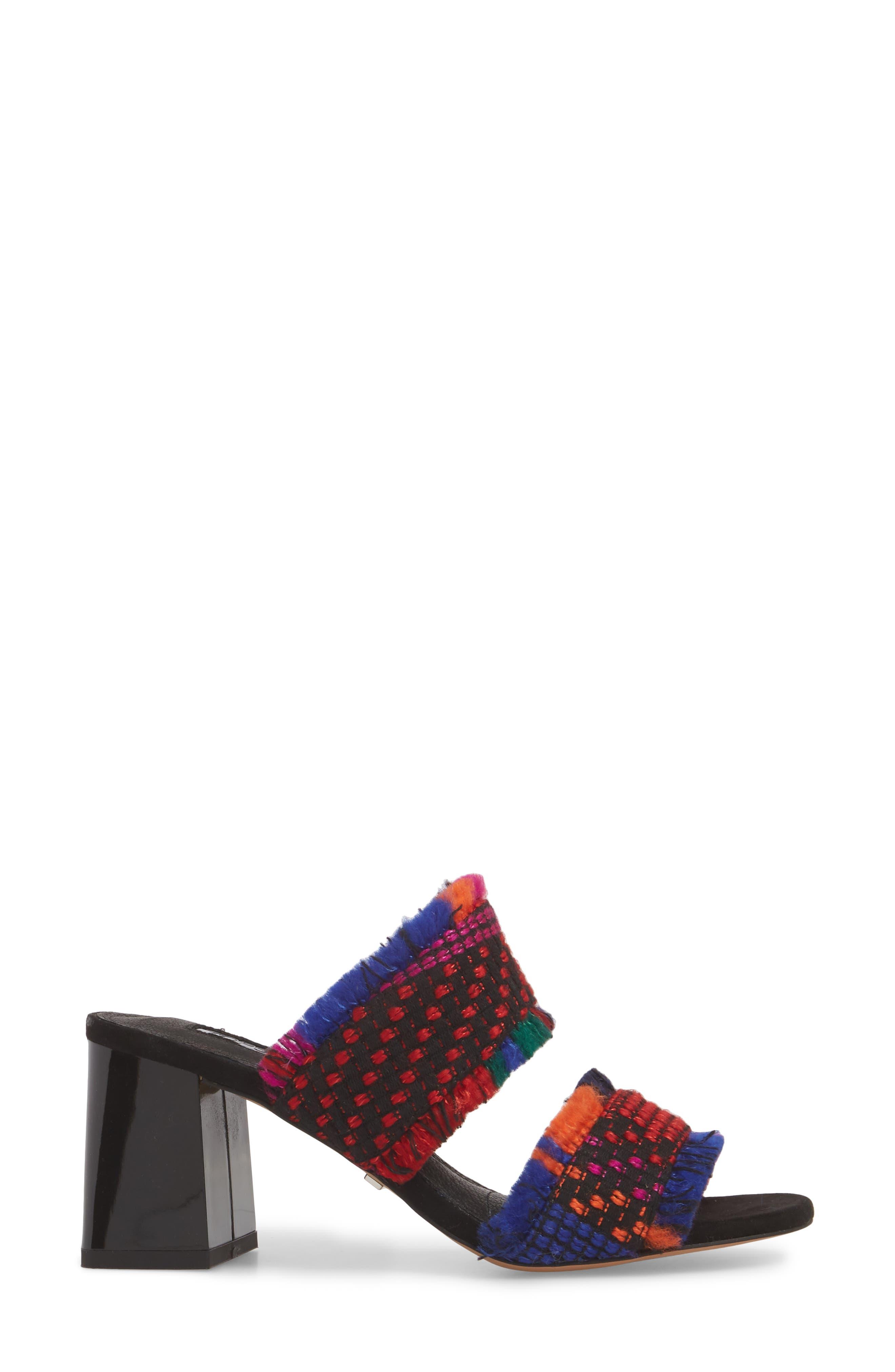 ,                             Nelly Woven Slide Sandal,                             Alternate thumbnail 3, color,                             001