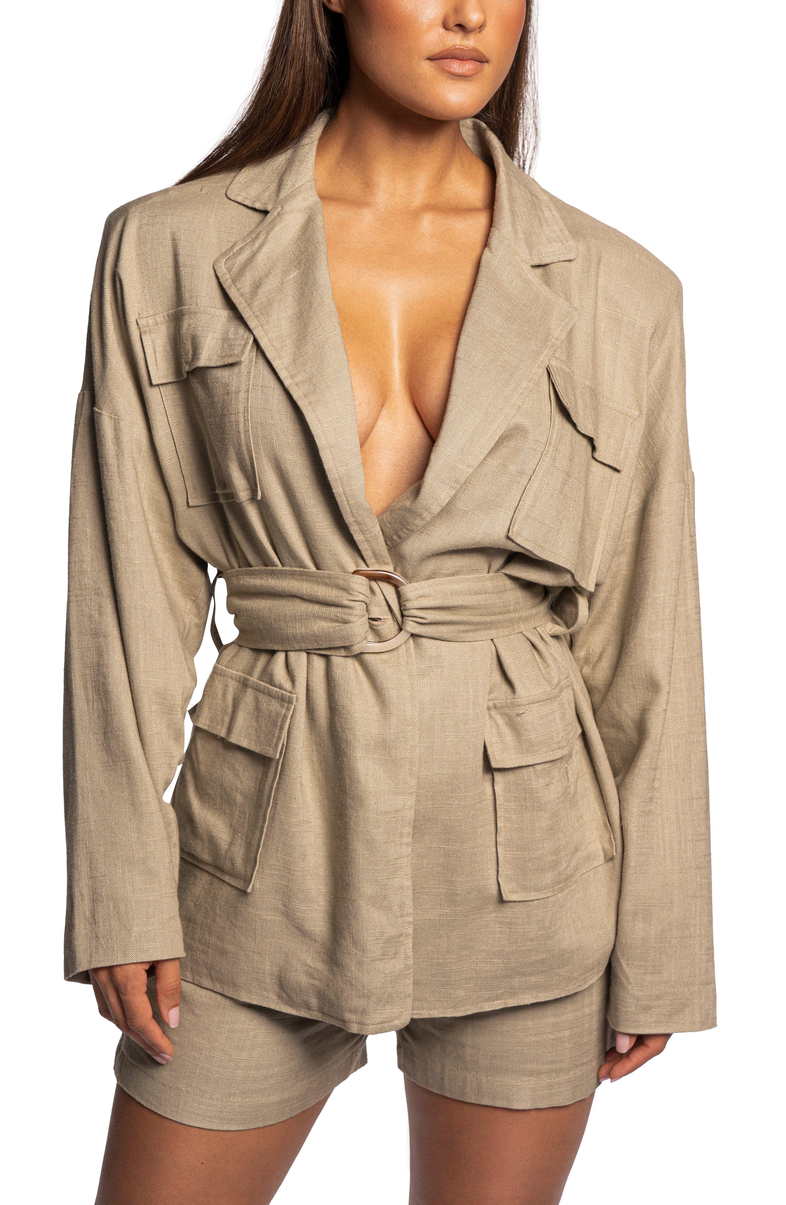 Cape Town Belted Cotton & Linen Jacket