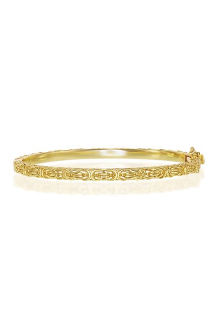 Image of Simona Jewelry Gold Plated Sterling Silver Byzantine Design Bangle