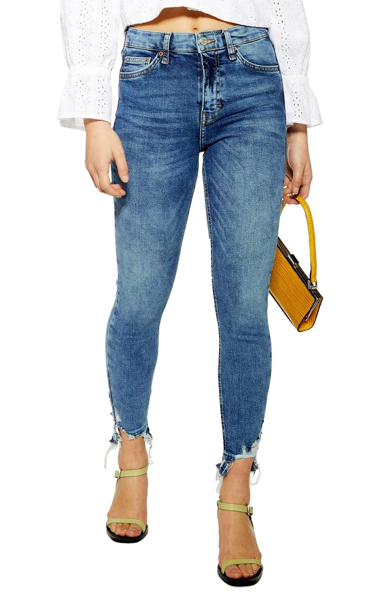 TOPSHOP Moto Jamie Ankle Skinny Jeans, Main, color, MID DENIM