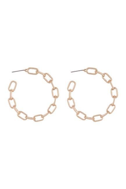 Image of AREA STARS Bold Link Hoop Earrings