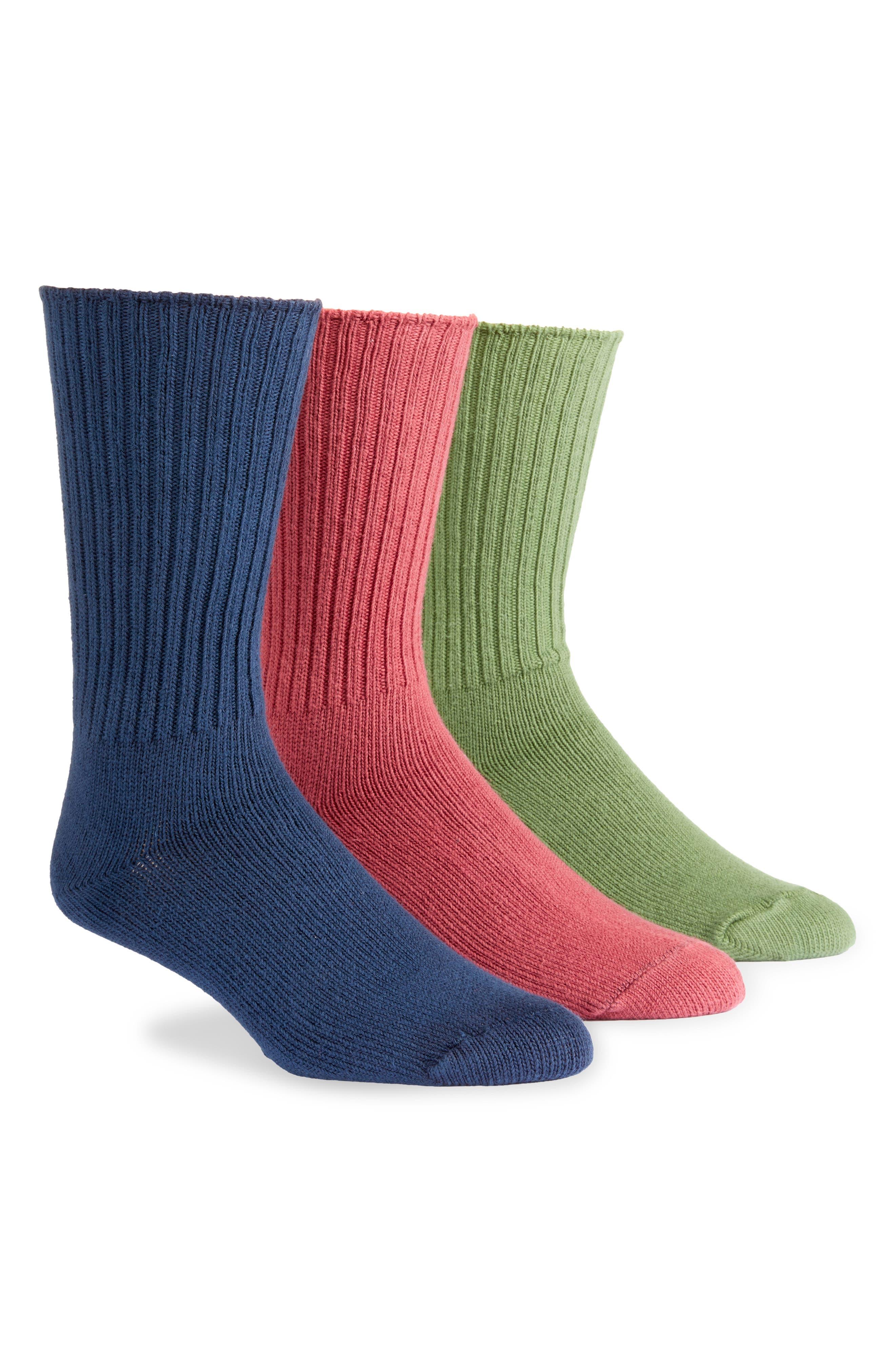 Assorted 3-Pack Organic Cotton Blend Crew Socks
