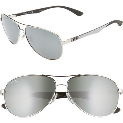 Ray-Ban 61Mm Polarized Aviator Sunglasses - Gry Mirror