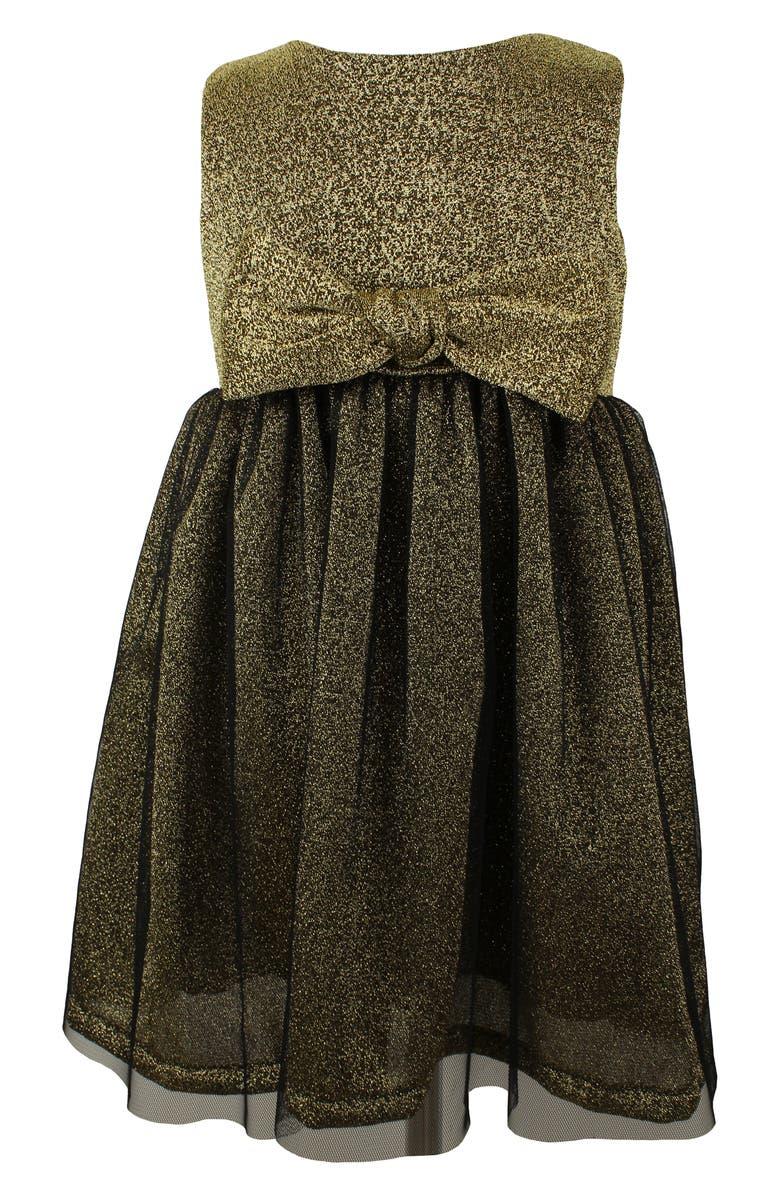 POPATU Metallic Sleeveless Tulle Dress, Main, color, 001