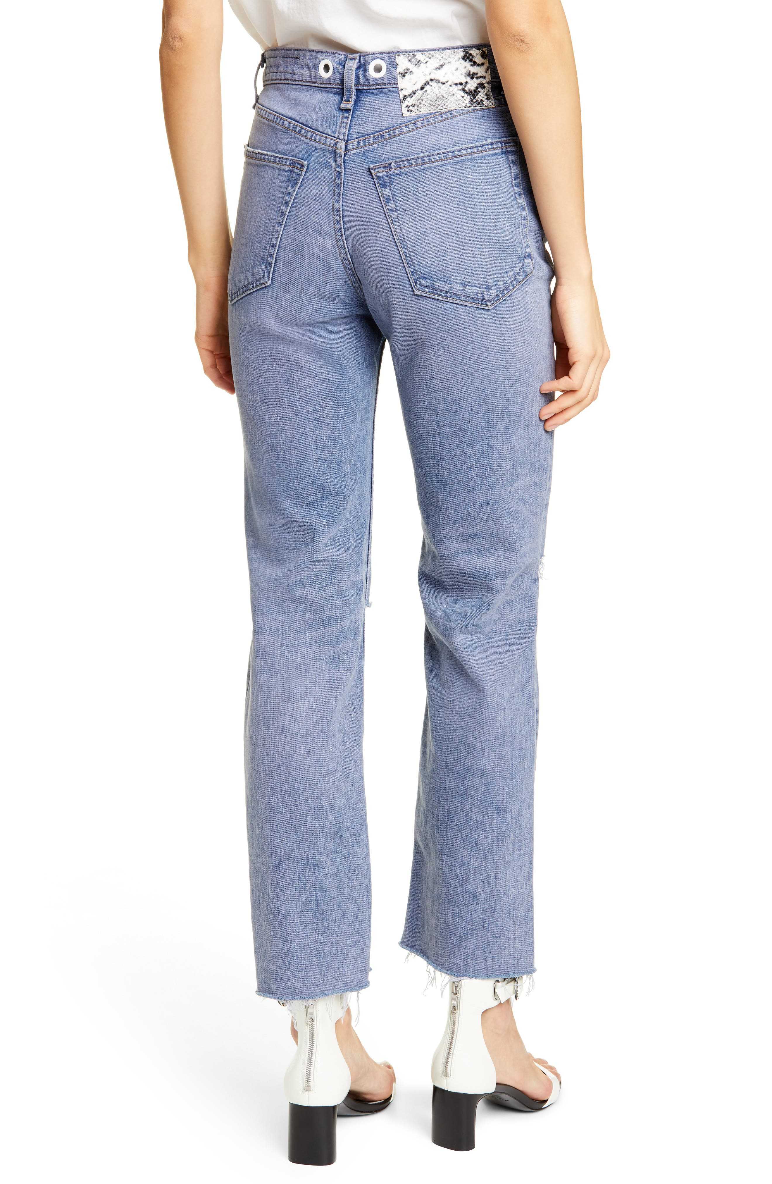 ,                             Maya High Waist Ankle Straight Leg Jeans,                             Alternate thumbnail 2, color,                             TINTED HYDRANGEA
