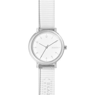 Skagen Aaren Clear Strap Watch,