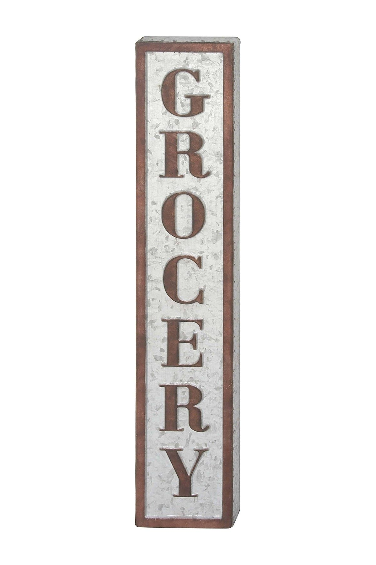 Image of Willow Row Grocery Metal Wall Sign - 7x36