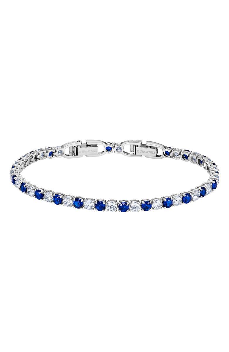 SWAROVSKI Tennis Bracelet, Main, color, CERAMIC SAPPHIRE DARK BLUE