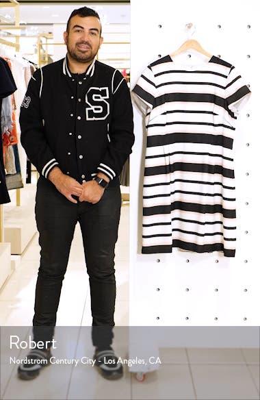 Stripe Short Sleeve Fit & Flare Dress, sales video thumbnail