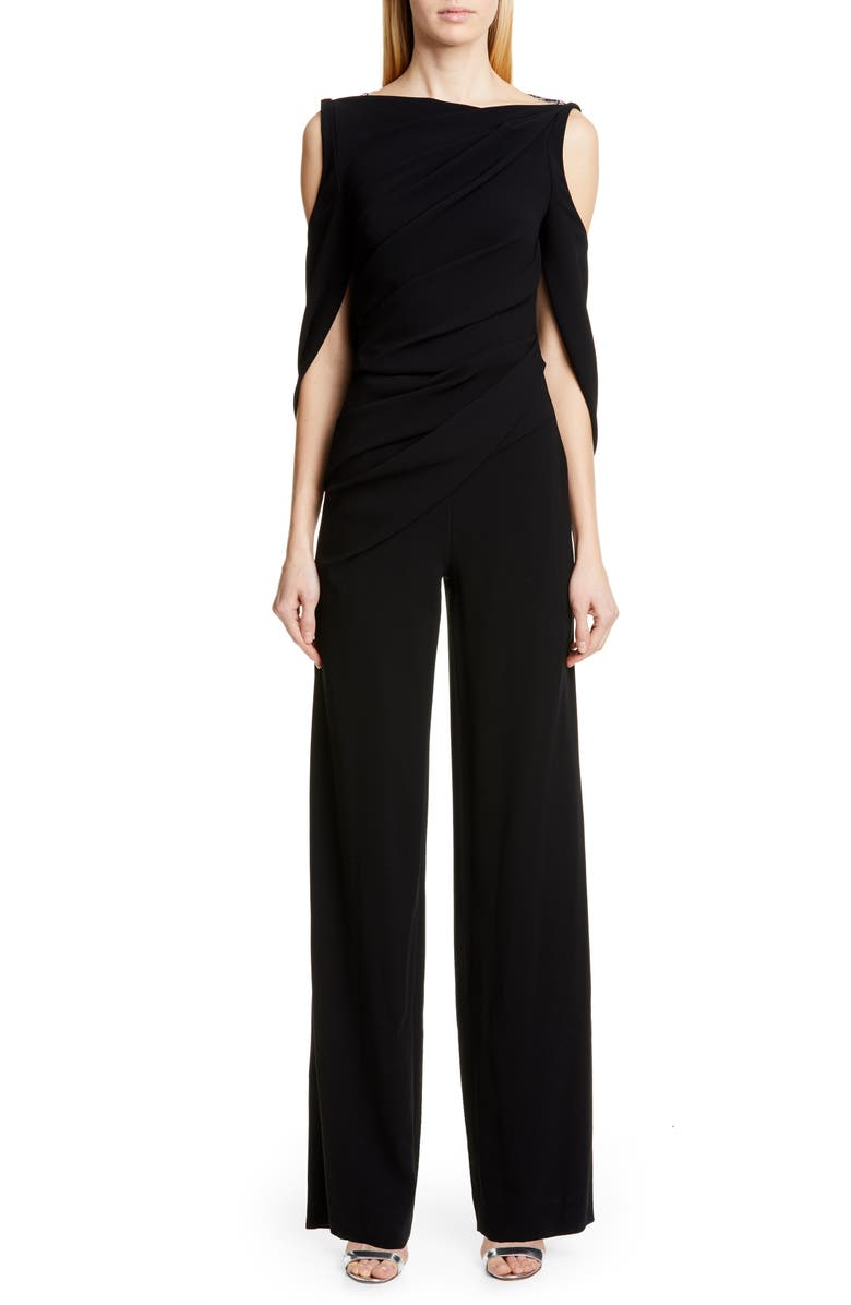 TALBOT RUNHOF Pigalle Cold Shoulder Jumpsuit, Main, color, 001