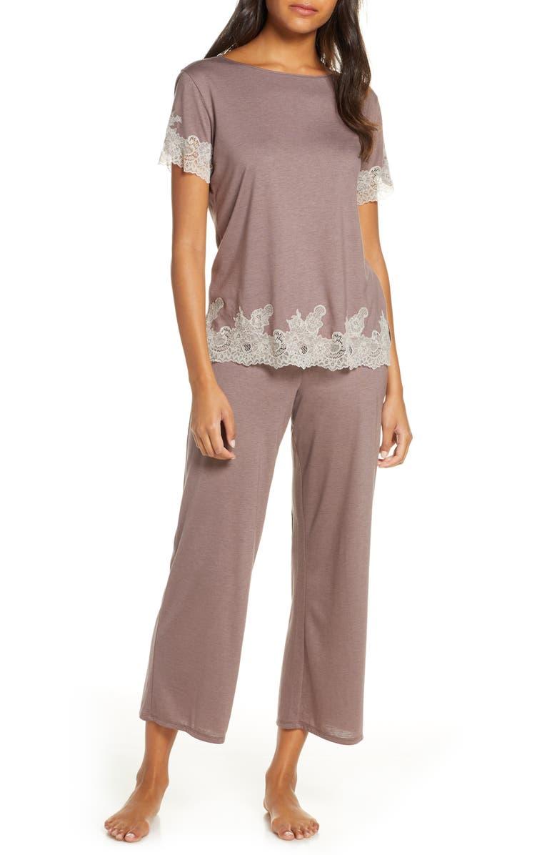 NATORI Luxe Shangri-La Pajamas, Main, color, CLC HT CLOVE