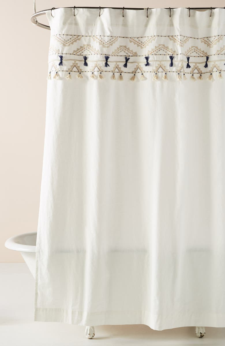 ANTHROPOLOGIE Vineet Bahl Shower Curtain, Main, color, NEUTRAL