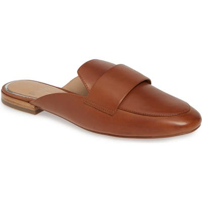 Linea Paolo Annie Genuine Calf Hair Loafer Mule, Brown