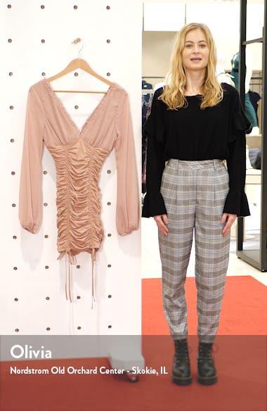 Magnolia Ruched Long Sleeve Minidress, sales video thumbnail
