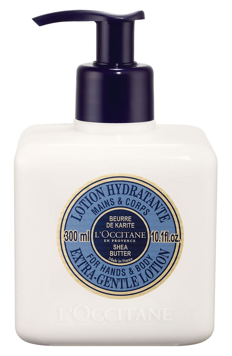 L'OCCITANE Shea Butter Extra-Gentle Lotion for Hands and Body, Main, color, 000