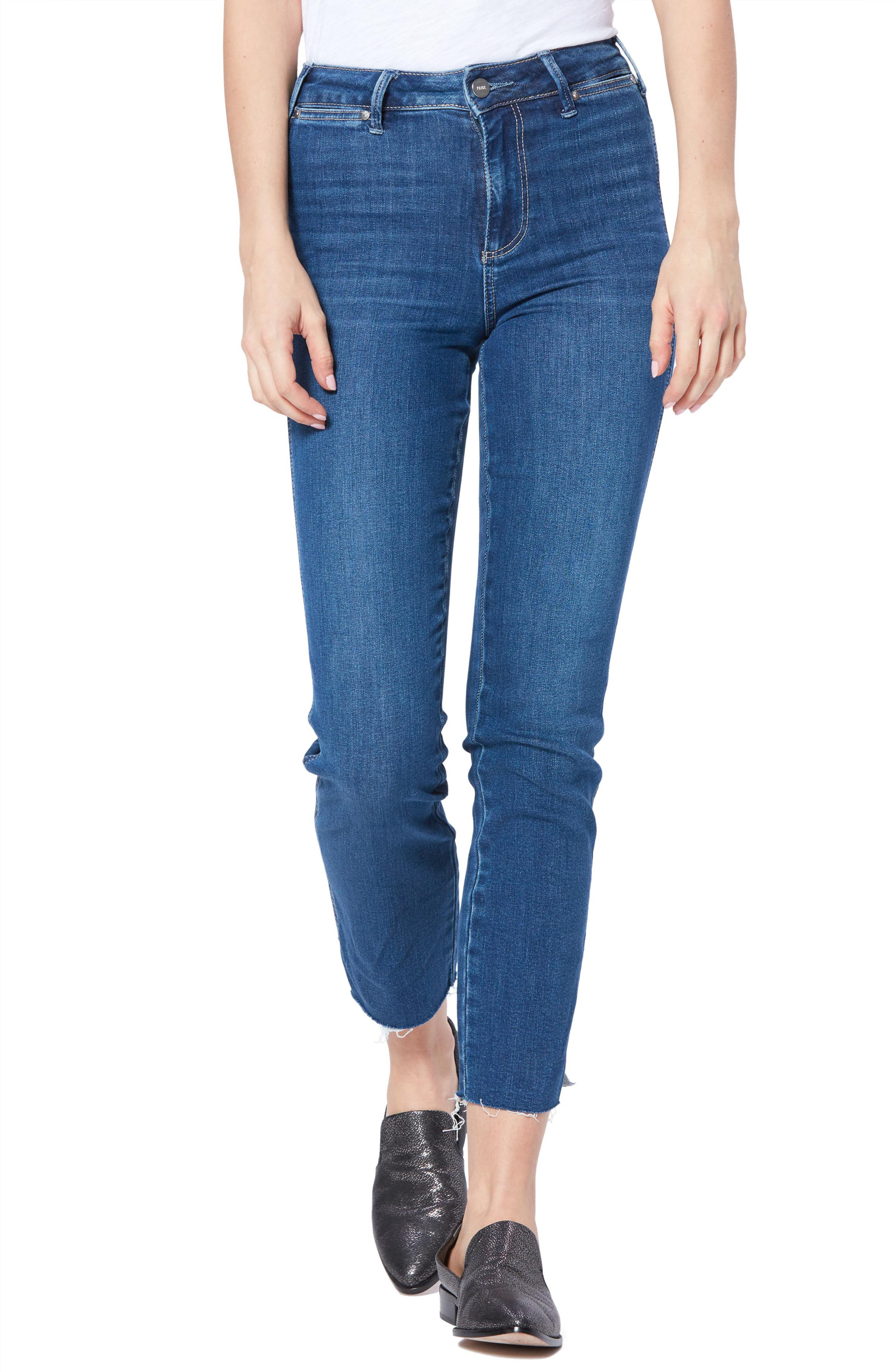 Image of PAIGE Cindy High Waist Straight Raw Ankle Crop Jeans