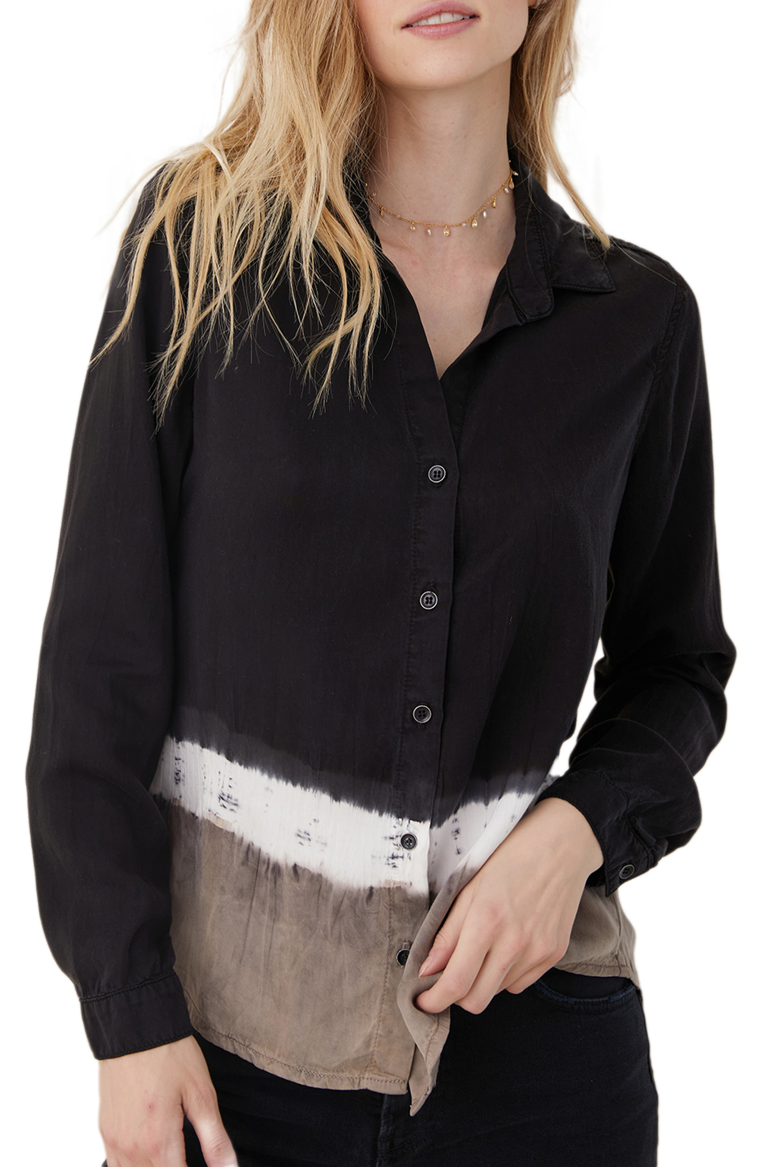 Ombre Colorblock Shirt