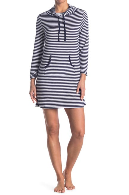 Image of Nautica Striped Ribbed Knit Tunic