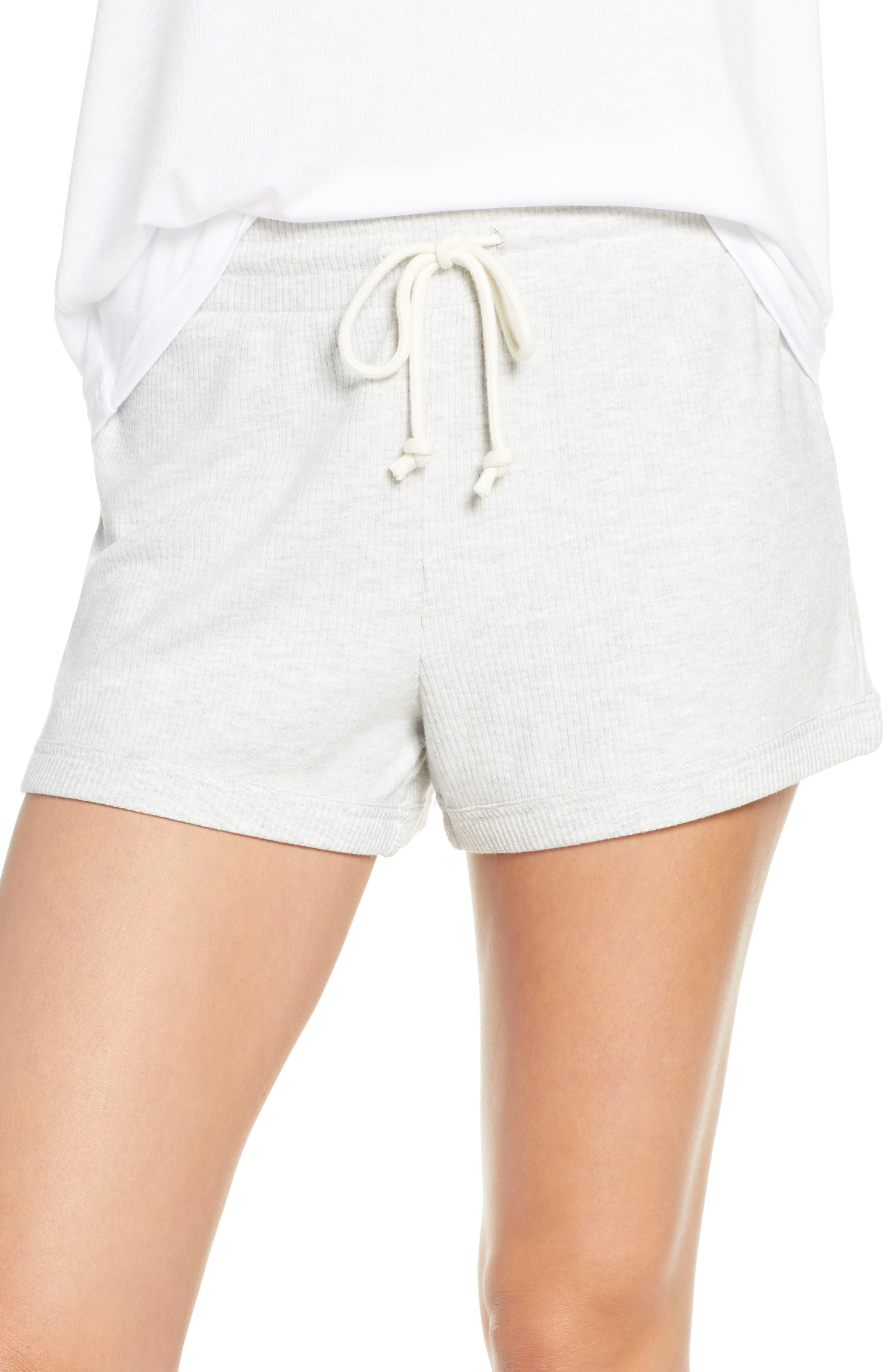 Something Navy Ribbed Pajama Shorts, Grey (Nordstrom Exclusive)