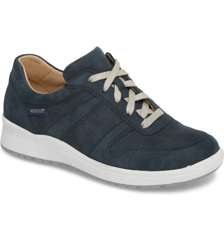 MEPHISTO Rebecca Perforated Sneaker, Main, color, NAVY
