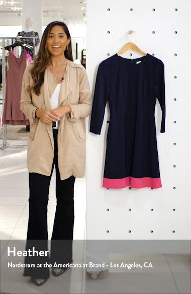 Contrast Hem Fit & Flare Dress, sales video thumbnail