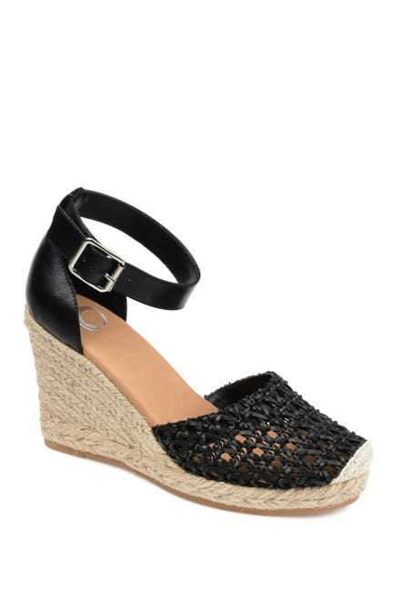 Image of JOURNEE Collection Sierra Woven Espadrille Wedge Sandal