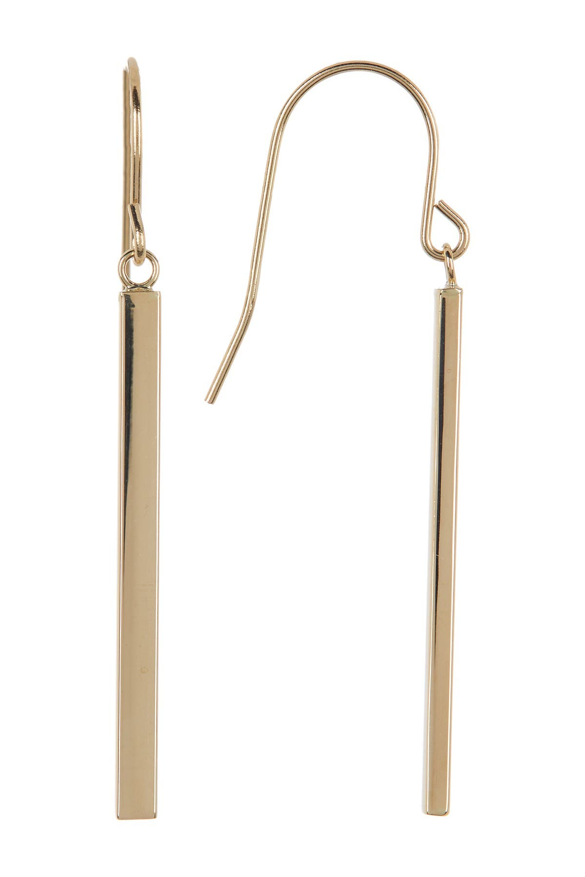 Image of Candela 14K Yellow Gold Dangling Bar Earrings