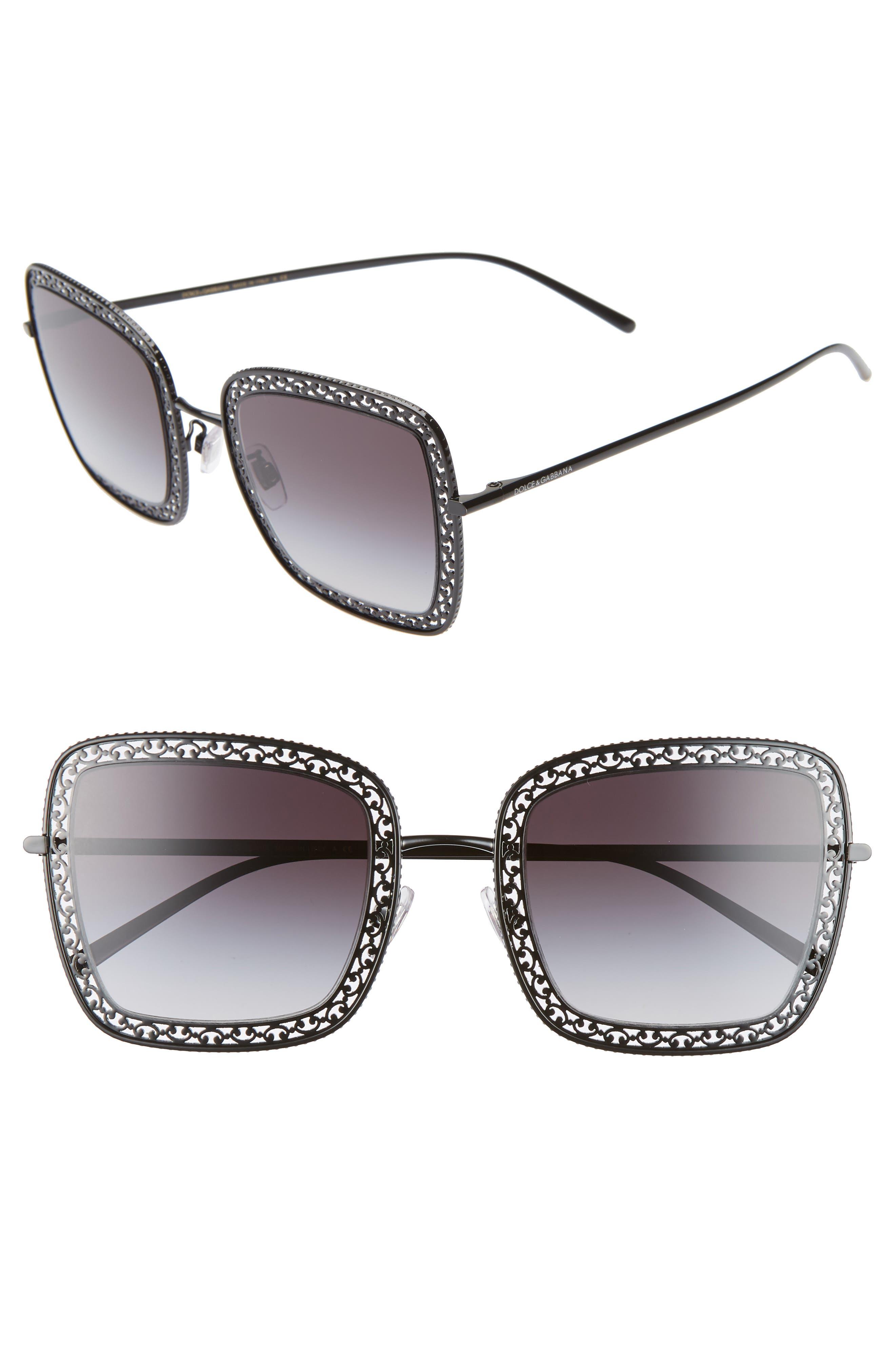 Dolce & gabbana 52Mm Square Sunglasses - Black
