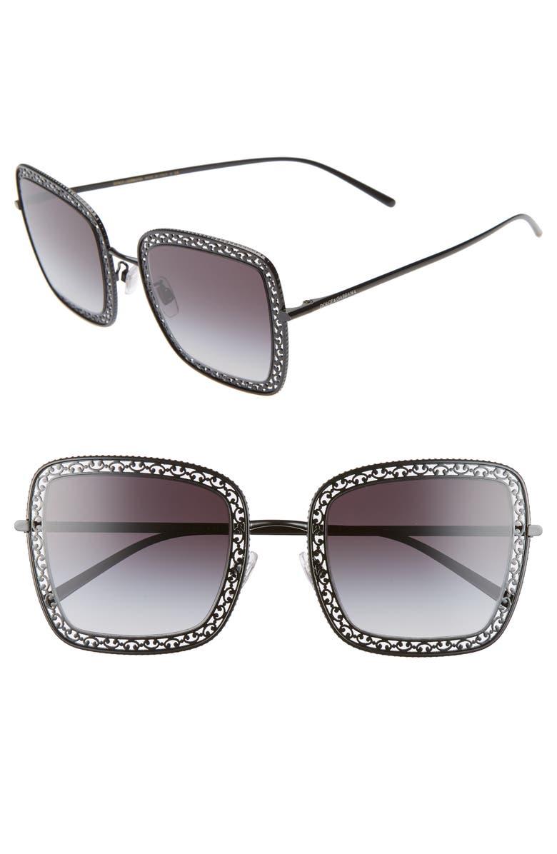 Dolce Gabbana 52mm Square Sunglasses