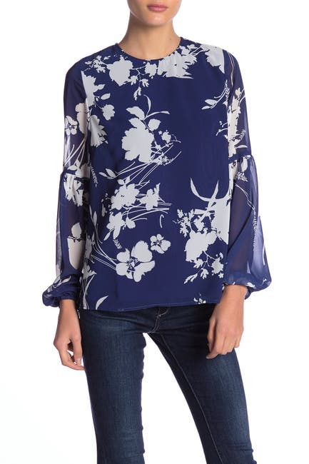 Image of Yumi Kim Executive Floral Print Blouse