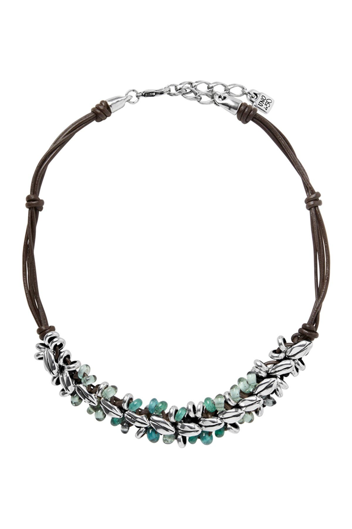 Image of Uno De 50 La Siembra Sowing Beaded Leather Necklace