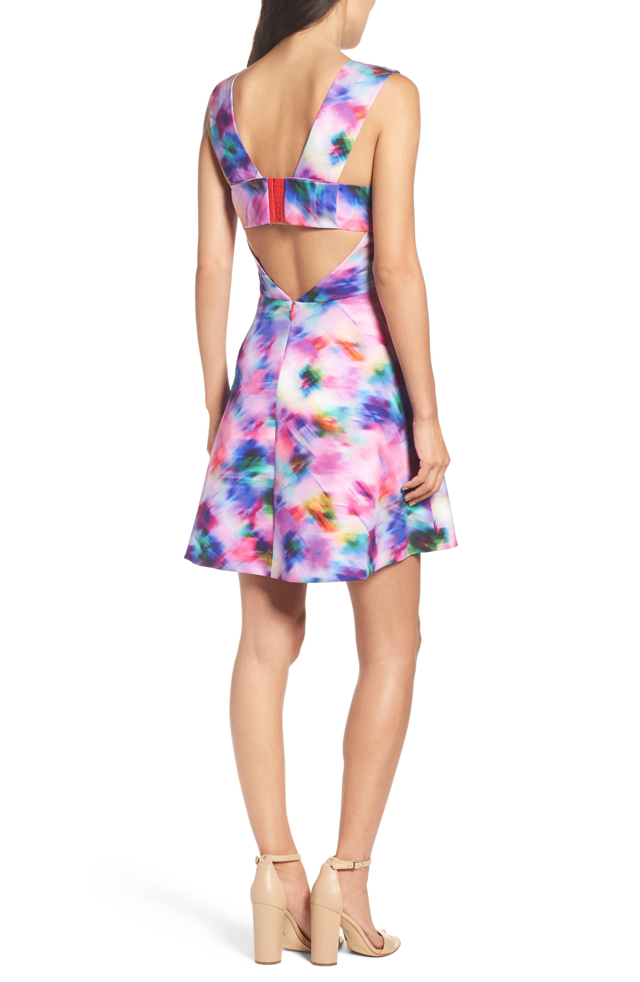,                             Bianca Back Cutout Fit & Flare Dress,                             Alternate thumbnail 56, color,                             519