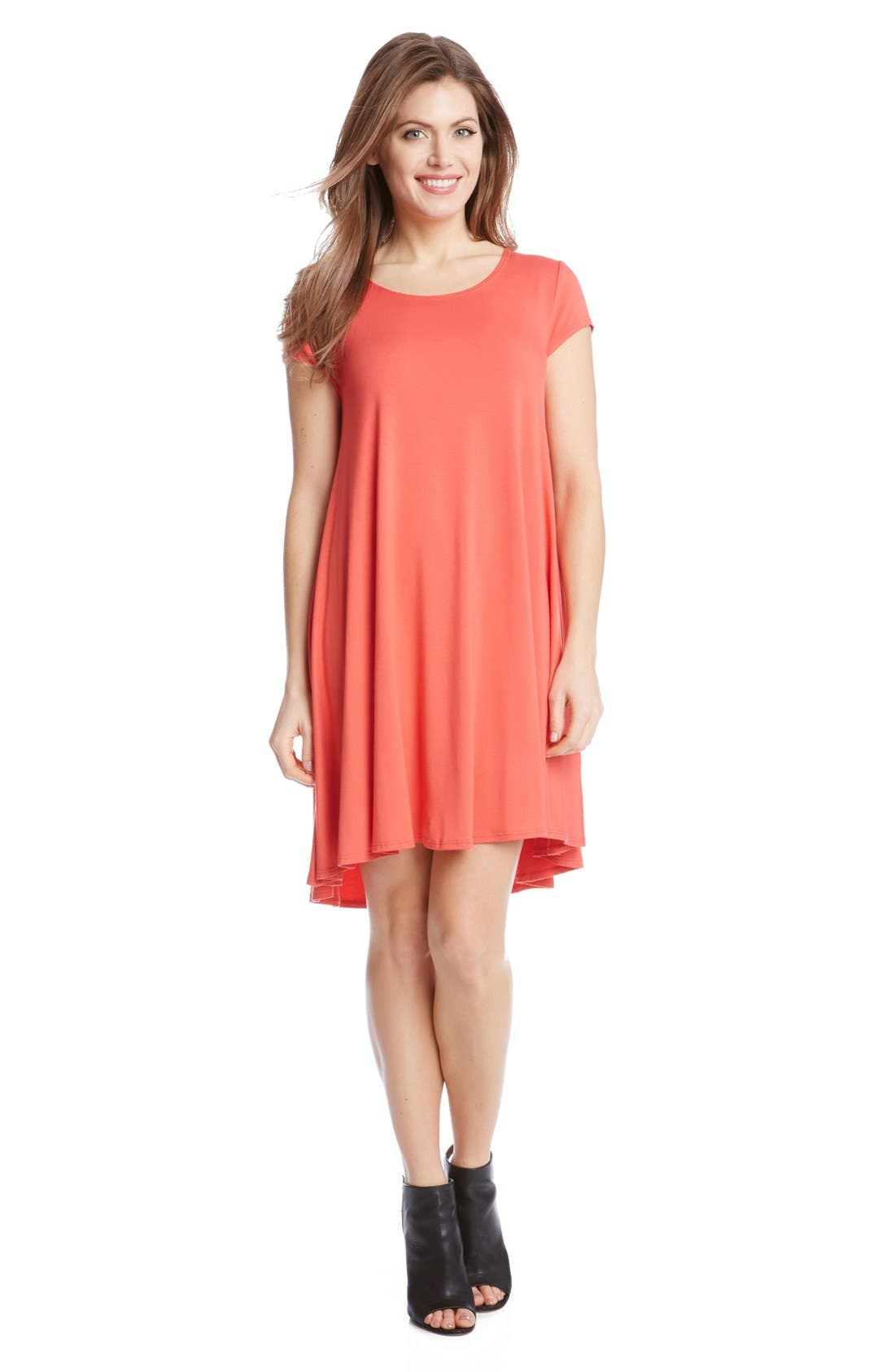 ,                             'Maggie' Cap Sleeve Trapeze Dress,                             Alternate thumbnail 26, color,                             676