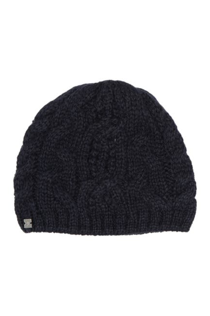 Image of Lauren Ralph Lauren Pointelle Cable Knit Hat