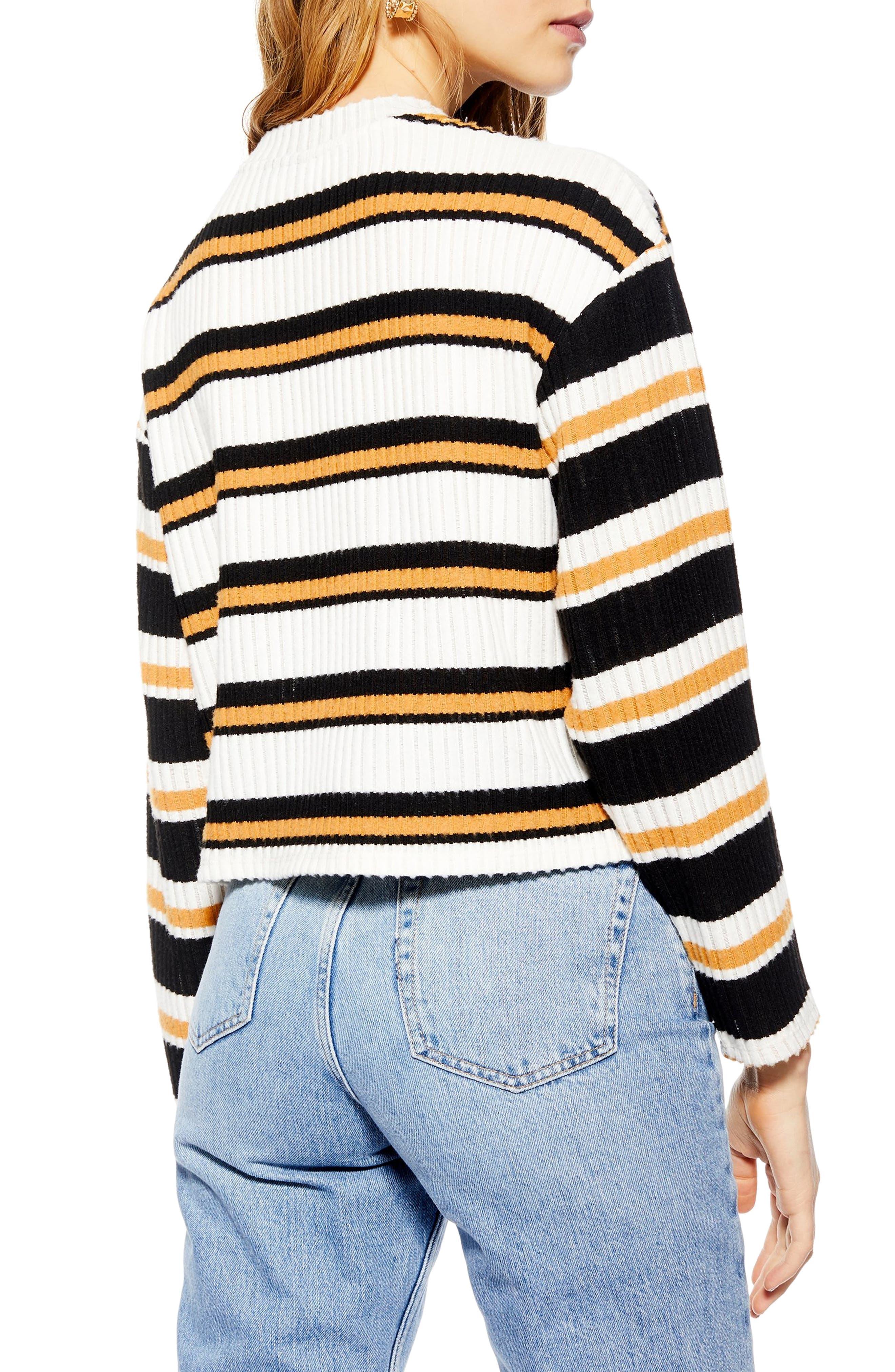 ,                             Stripe Cut & Sew Sweater,                             Alternate thumbnail 2, color,                             001