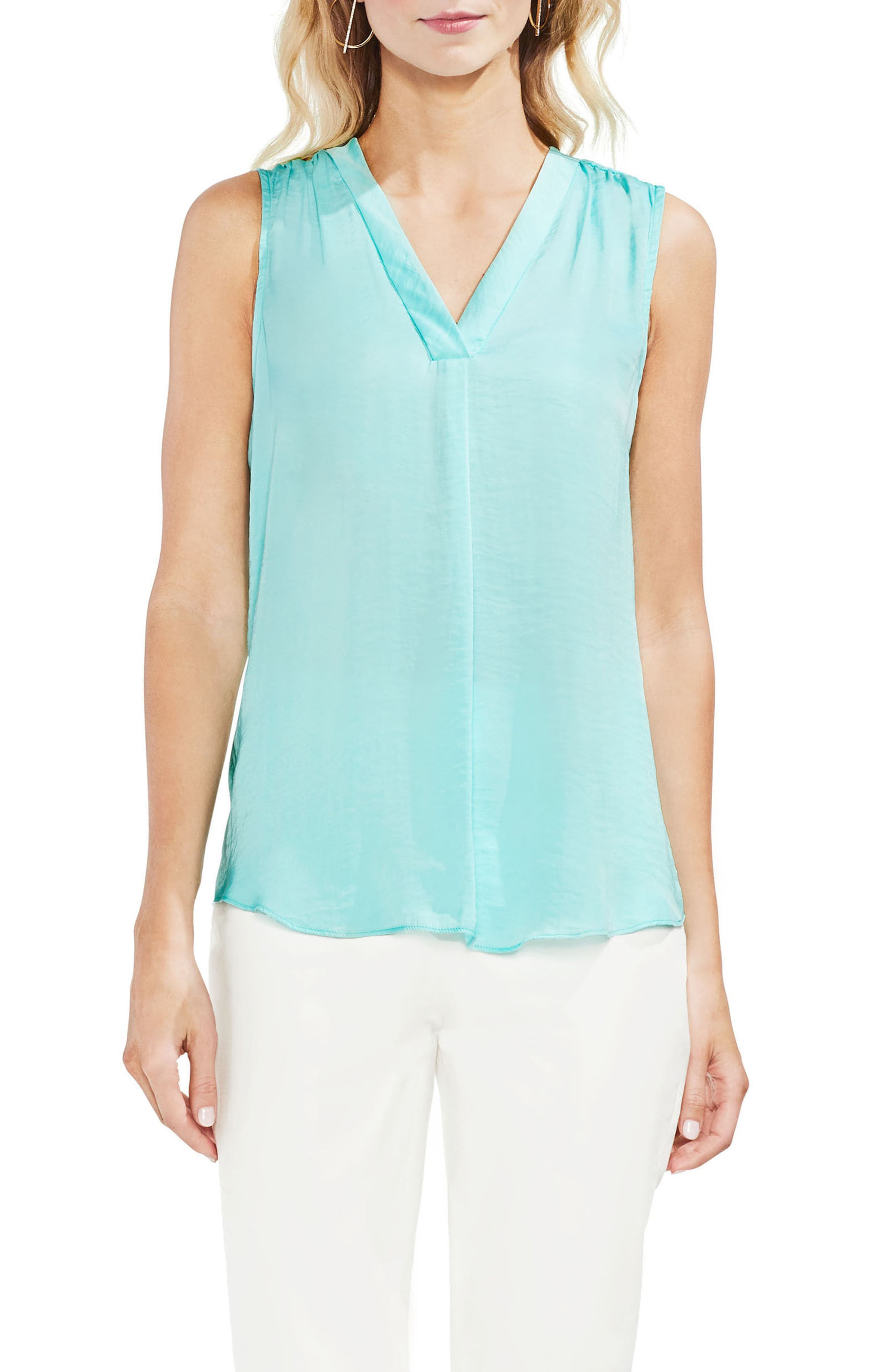 ,                             Rumpled Satin Blouse,                             Main thumbnail 165, color,                             405