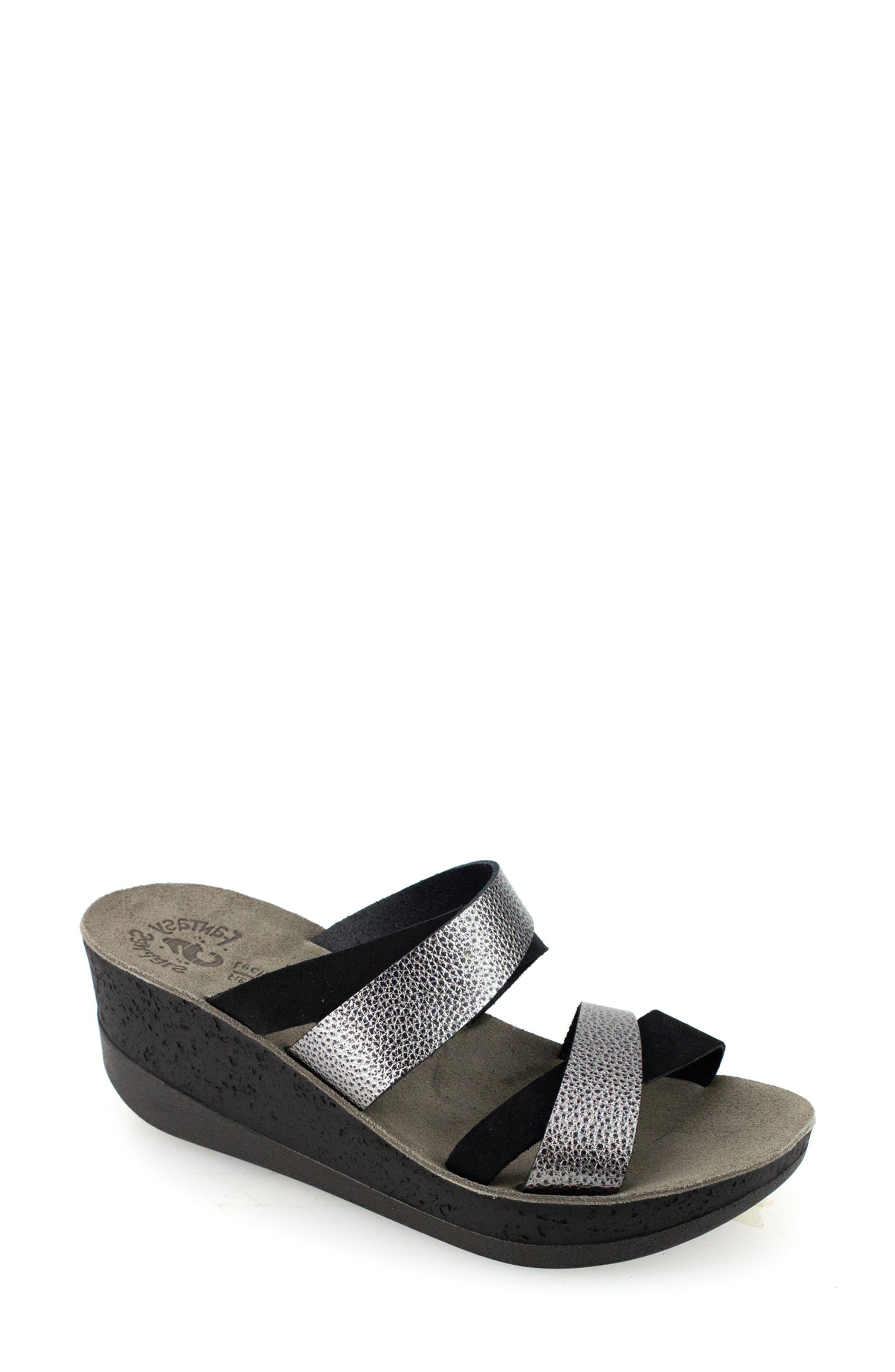 Aria Wedge Slide Sandal