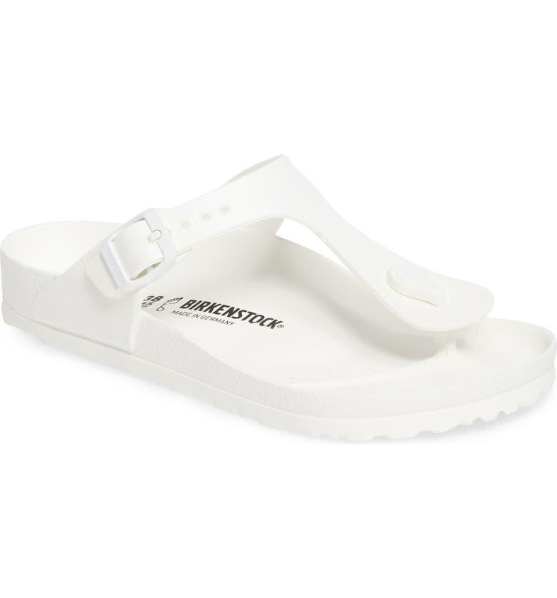 BIRKENSTOCK Essentials - Gizeh Flip Flop, Main, color, WHITE