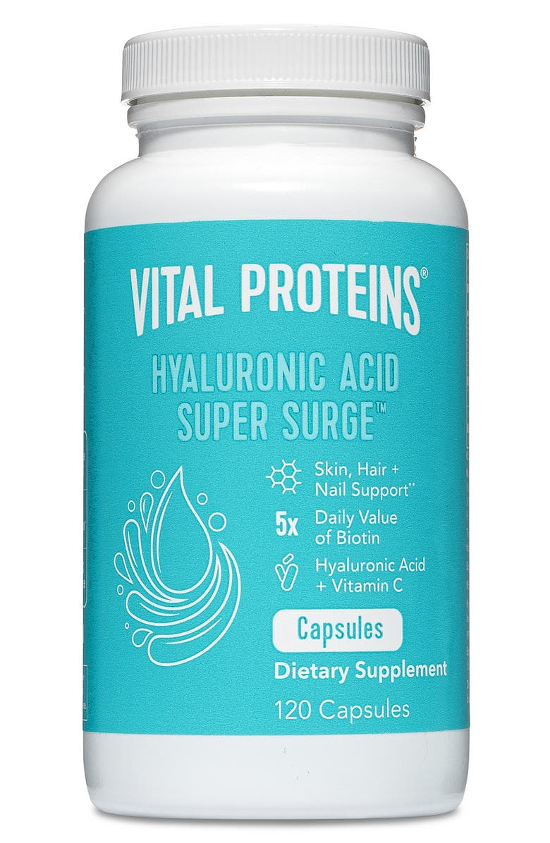 VITAL PROTEINS Hyaluronic Acid Super Surge<sup>™</sup> Dietary Supplement Capsules, Main, color, NO COLOR
