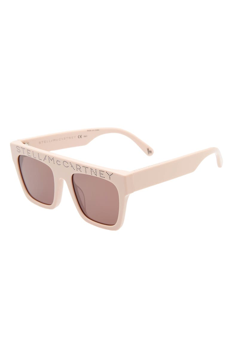 STELLA MCCARTNEY KIDS 45mm Flat Top Sunglasses, Main, color, PINK