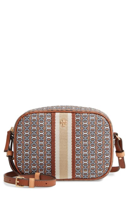 Tory Burch Bags GEMINI LINK CANVAS CAMERA BAG - BROWN
