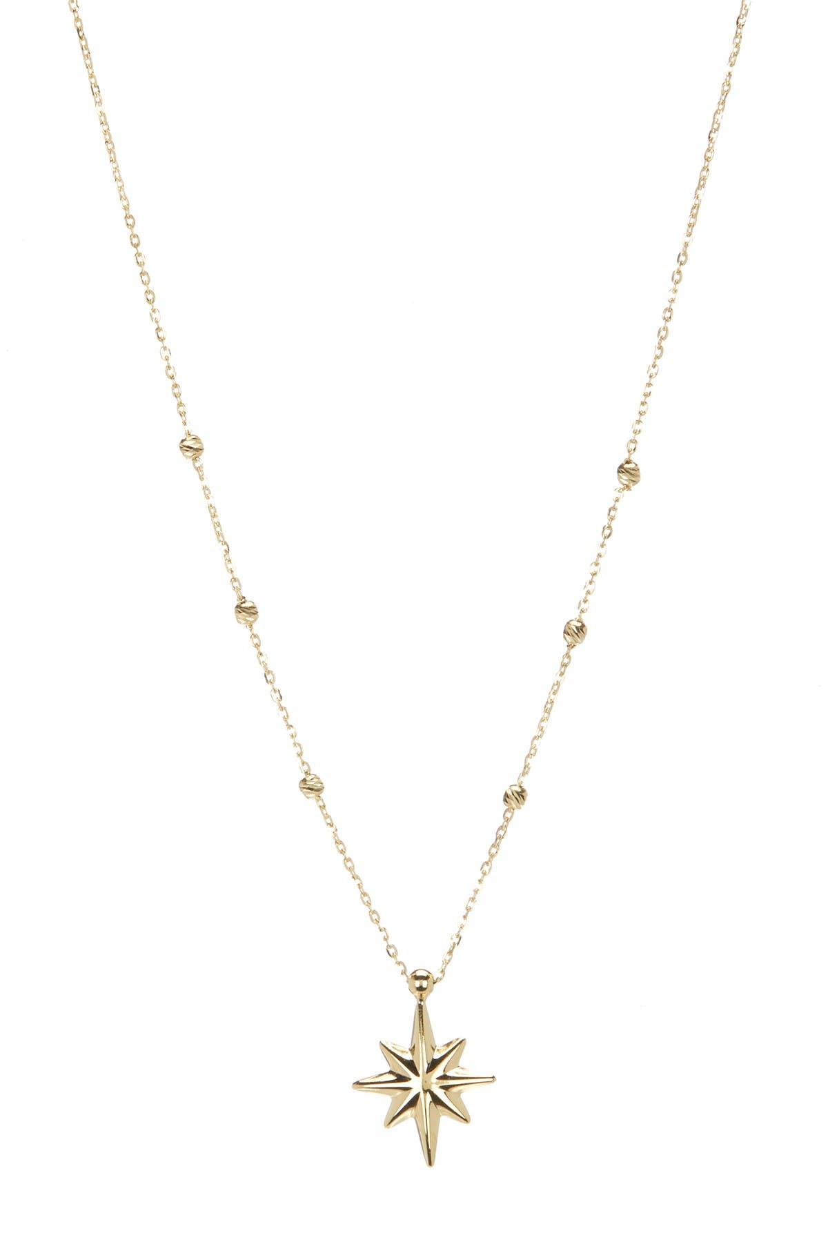 Image of KARAT RUSH 14K Yellow Gold Star Pendant Necklace