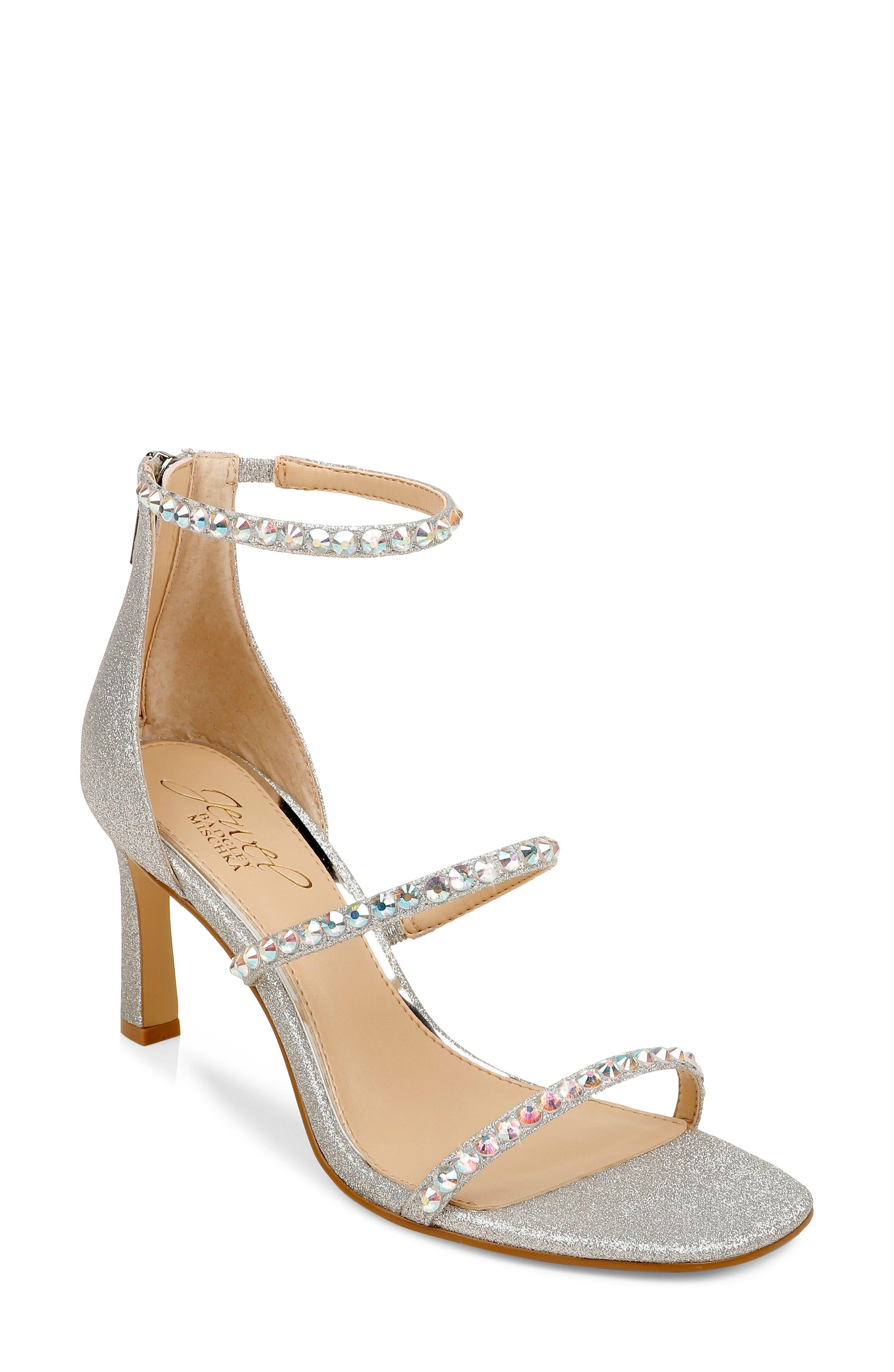 Ellis Embellished Ankle Strap Sandal