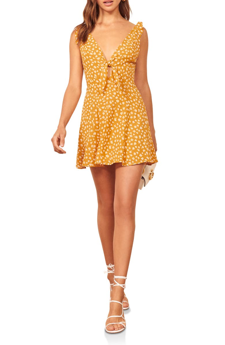 REFORMATION Nola Minidress, Main, color, LA BREA