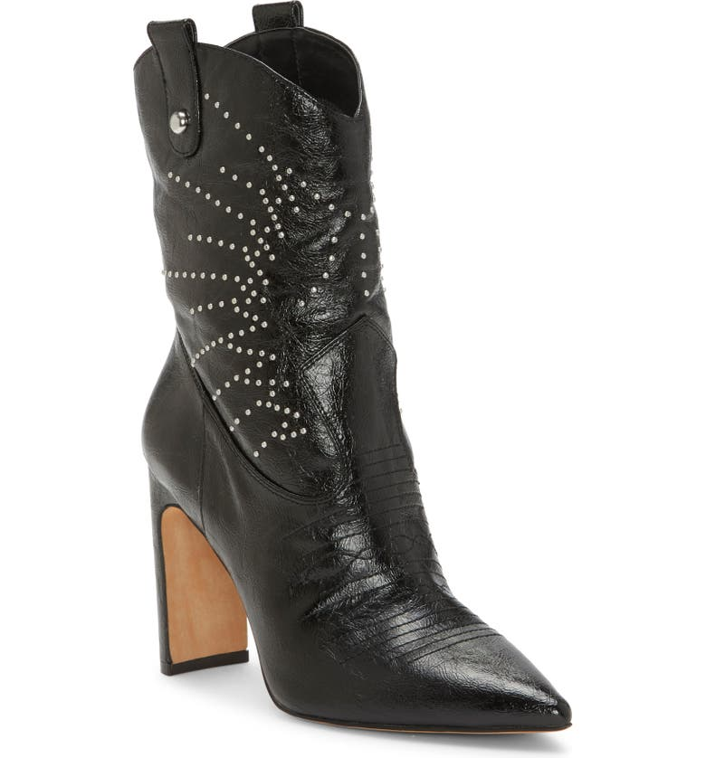JESSICA SIMPSON Bazil Western Bootie, Main, color, BLACK LEATHER