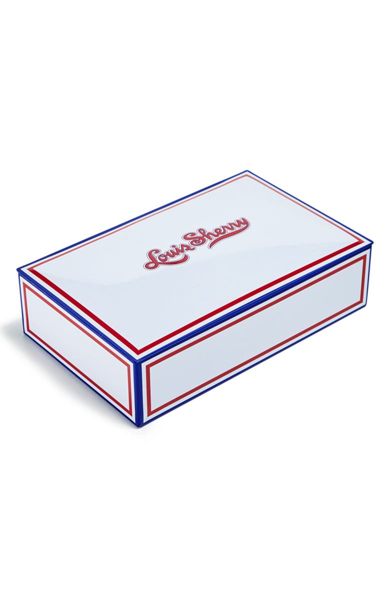 LOUIS SHERRY Miles Redd Patriot 12-Piece Truffle Tin, Main, color, WHITE RED BLUE