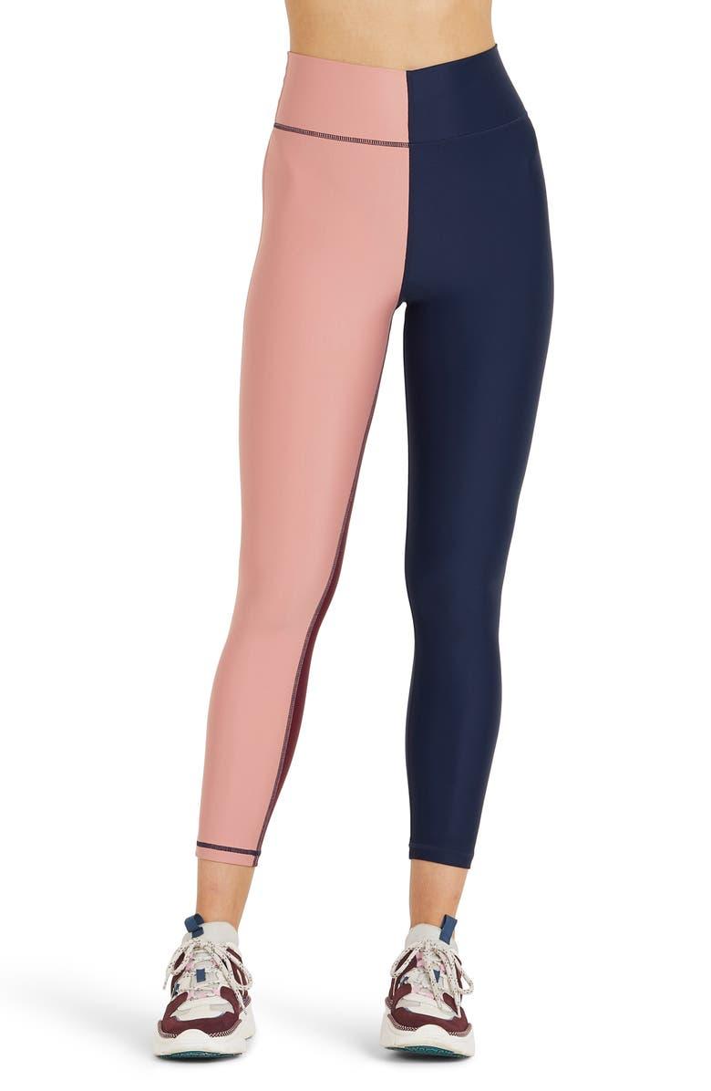 THE UPSIDE Harlequin Dance Colorblock Leggings, Main, color, NAVY/MULTI