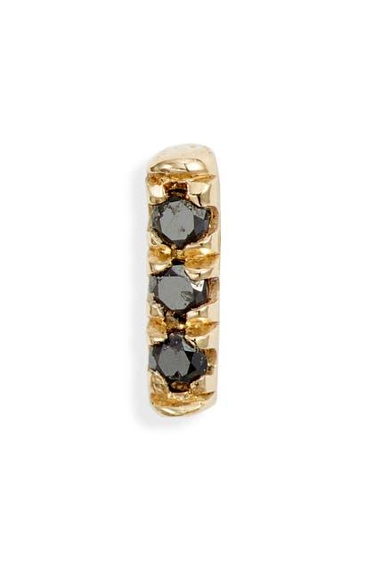 Jennie Kwon Designs Black Equilibrium Stud Earring In Yellow Gold/ Black Diamond