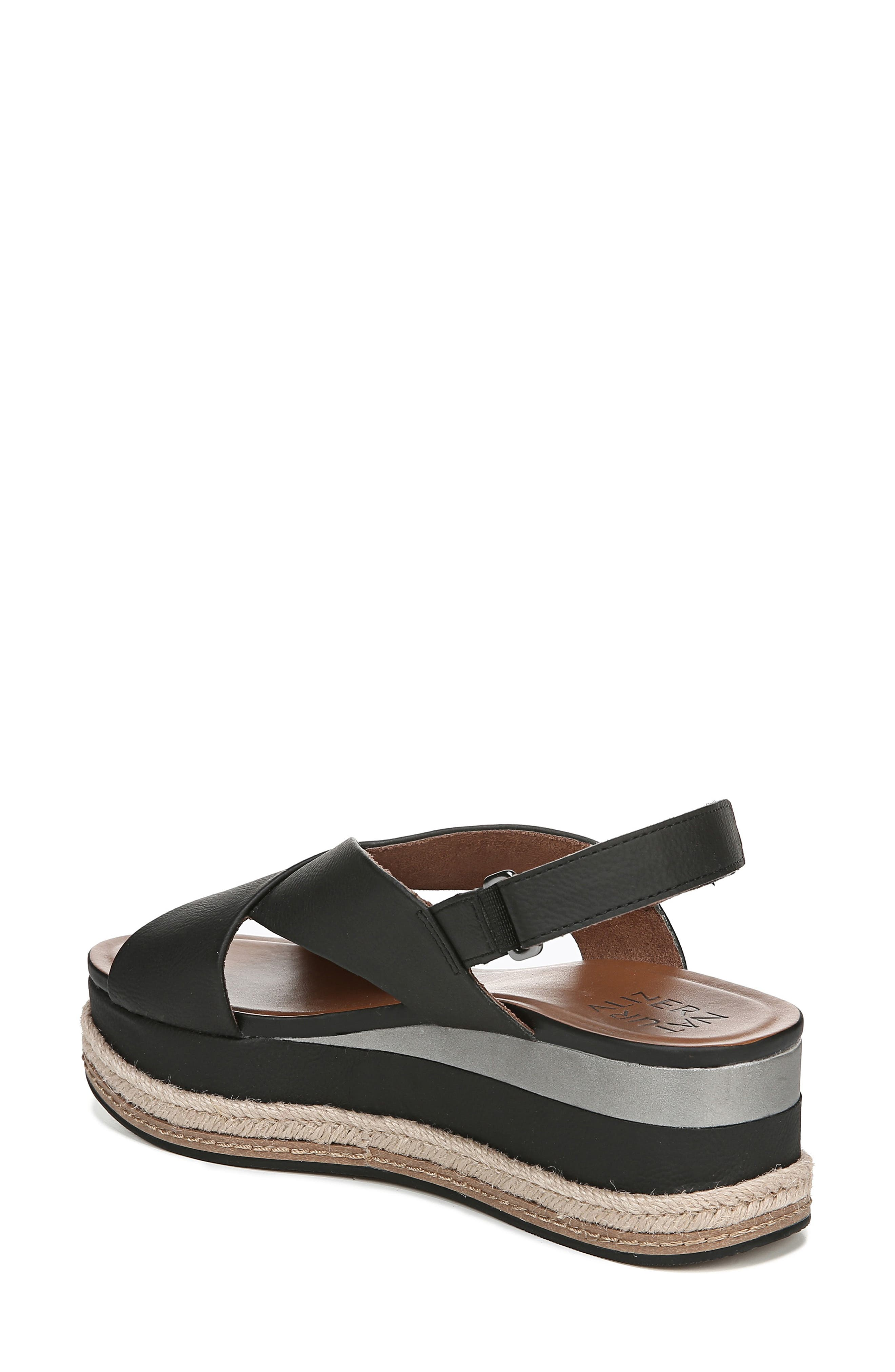 ,                             Baya Espadrille Wedge Sandal,                             Alternate thumbnail 2, color,                             BLACK NUBUCK LEATHER