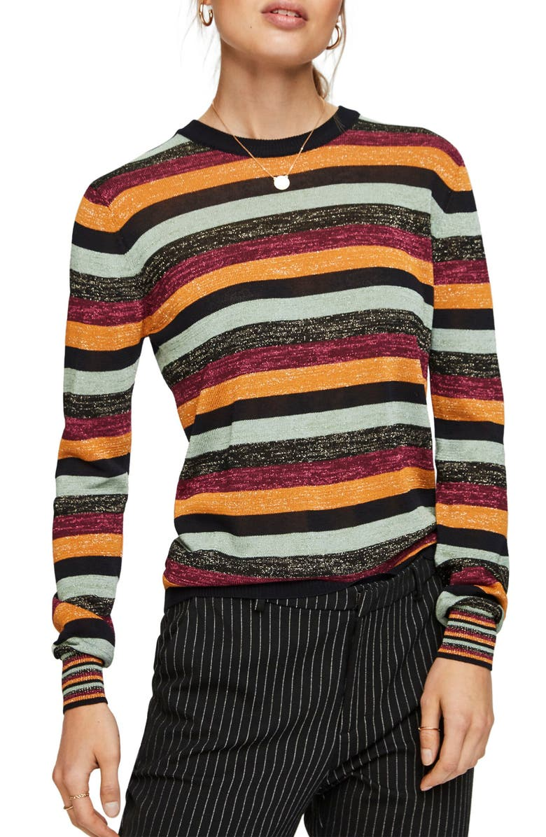 SCOTCH & SODA Stripe Sweater, Main, color, 001